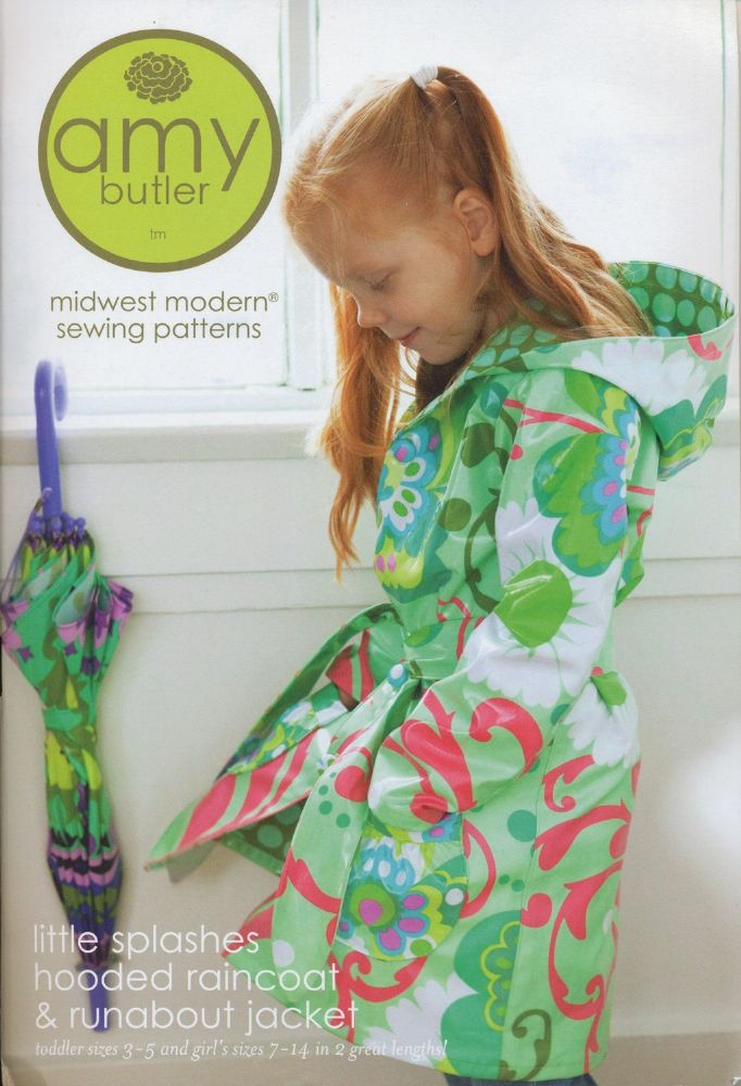Amy Butler - Little Splashes Hooded Raincoat sewing pattern